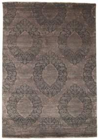 Damask Matto 175X250 Moderni Käsinsolmittu Tummanruskea/Tummanharmaa ( Intia)