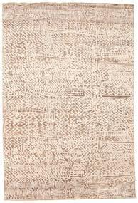 Damask Matto 204X305 Moderni Käsinsolmittu Beige/Vaaleanruskea ( Intia)