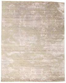 Damask Matto 242X308 Moderni Käsinsolmittu Vaaleanharmaa/Valkoinen/Creme ( Intia)