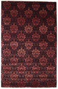 Damask Matto 196X301 Moderni Käsinsolmittu Tummanpunainen ( Intia)
