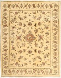 Yazd Matto 197X254 Itämainen Käsinsolmittu Tummanbeige/Vaaleanruskea/Beige (Villa, Persia/Iran)