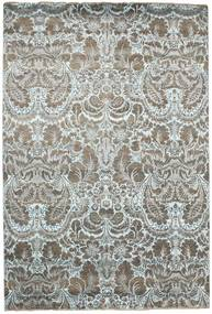 Damask Matto 203X302 Moderni Käsinsolmittu Vaaleanharmaa/Tummanharmaa ( Intia)