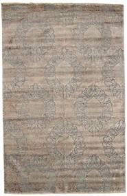 Damask Matto 195X303 Moderni Käsinsolmittu Vaaleanharmaa ( Intia)