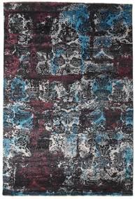 Damask Matto 203X303 Moderni Käsinsolmittu Tummanharmaa/Musta ( Intia)