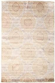Damask Matto 195X300 Moderni Käsinsolmittu Beige/Keltainen ( Intia)