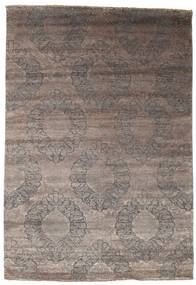 Damask Matto 204X296 Moderni Käsinsolmittu Vaaleanharmaa/Tummanharmaa ( Intia)