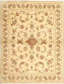 Yazd Matto 190X253 Itämainen Käsinsolmittu Tummanbeige/Beige (Villa, Persia/Iran)