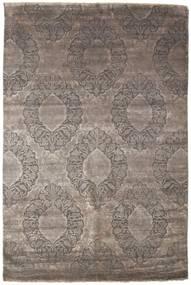 Damask Matto 199X301 Moderni Käsinsolmittu Vaaleanharmaa/Tummanharmaa ( Intia)
