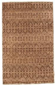 Damask Matto 114X181 Moderni Käsinsolmittu Ruskea/Vaaleanruskea ( Intia)