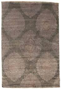 Damask Matto 160X237 Moderni Käsinsolmittu Ruskea/Vaaleanharmaa ( Intia)