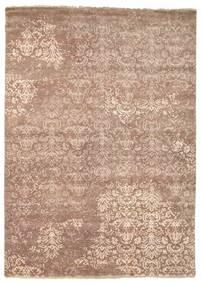 Damask Matto 175X245 Moderni Käsinsolmittu Ruskea/Vaaleanruskea ( Intia)