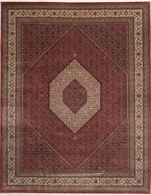Bidjar Indo Matto 303X392 Itämainen Käsinsolmittu Tummanpunainen/Ruskea Isot (Villa, Intia)