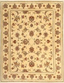 Yazd Matto 194X249 Itämainen Käsinsolmittu Tummanbeige/Vaaleanruskea (Villa, Persia/Iran)