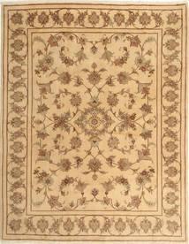 Yazd Matto 193X245 Itämainen Käsinsolmittu Tummanbeige/Vaaleanruskea (Villa, Persia/Iran)