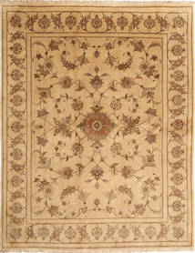 Yazd Matto 197X250 Itämainen Käsinsolmittu Tummanbeige/Vaaleanruskea (Villa, Persia/Iran)