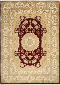 Tabriz Royal Magic Matto 206X287 Itämainen Käsinsolmittu Tummanbeige/Vaaleanruskea ( Intia)