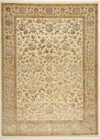 Tabriz Royal Magic Matto 210X289 Itämainen Käsinsolmittu Vaaleanruskea/Beige/Tummanbeige ( Intia)