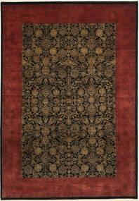Tabriz Royal Magic Matto 202X292 Itämainen Käsinsolmittu Tummanruskea/Tummanpunainen ( Intia)