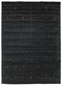 Gabbeh Loom Two Lines - Musta/Harmaa Matto 240X340 Moderni Musta (Villa, Intia)