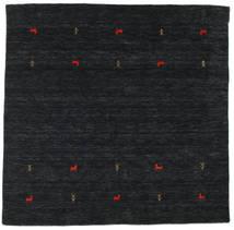 Gabbeh Loom Two Lines - Musta/Harmaa Matto 200X200 Moderni Neliö Musta (Villa, Intia)