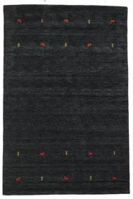 Gabbeh Loom Two Lines - Musta/Harmaa Matto 190X290 Moderni Musta (Villa, Intia)