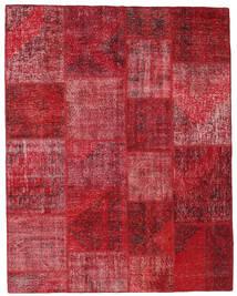 Patchwork Matto 198X251 Moderni Käsinsolmittu Tummanpunainen/Punainen (Villa, Turkki)