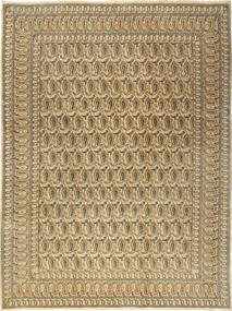 Keshan Matto 277X376 Itämainen Käsinsolmittu Vaaleanruskea/Tummanbeige Isot (Villa, Persia/Iran)