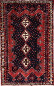 Afshar/Sirjan Matto 195X310 Itämainen Käsinsolmittu Tummanpunainen/Musta (Villa, Persia/Iran)