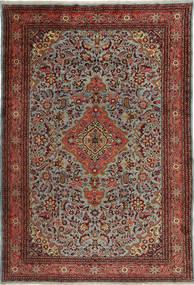 Mehraban Matto 210X315 Itämainen Käsinsolmittu Tummanpunainen/Tummanharmaa (Villa, Persia/Iran)