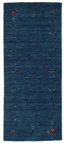 Gabbeh Loom Frame - Tummansininen Matto 80X200 Moderni Käytävämatto Tummansininen (Villa, Intia)
