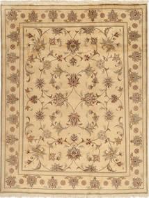 Yazd Matto 196X250 Itämainen Käsinsolmittu Tummanbeige/Vaaleanruskea (Villa, Persia/Iran)