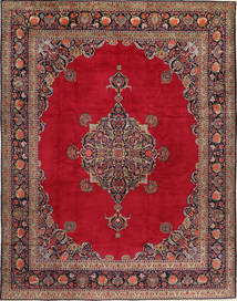 Keshan Matto 315X410 Itämainen Käsinsolmittu Punainen/Tummanpunainen Isot (Villa, Persia/Iran)