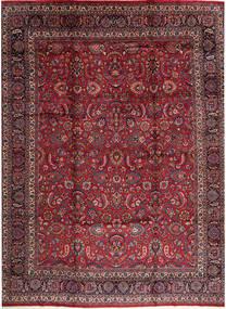 Rashad Allekirjoitettu: Ghazi Khan Matto 365X470 Itämainen Käsinsolmittu Tummanpunainen/Tummanruskea Isot (Villa, Persia/Iran)