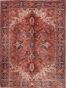 Heriz Matto 292X383 Itämainen Käsinsolmittu Tummanpunainen/Tummanruskea Isot (Villa, Persia/Iran)