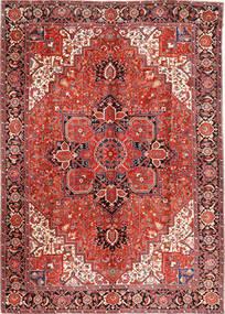 Heriz Matto 293X406 Itämainen Käsinsolmittu Tummanpunainen/Ruoste Isot (Villa, Persia/Iran)