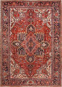Heriz Matto 288X403 Itämainen Käsinsolmittu Tummanpunainen/Ruoste Isot (Villa, Persia/Iran)