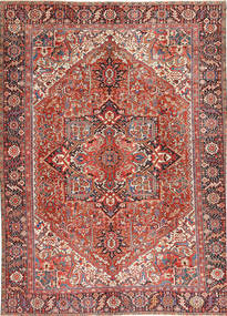 Heriz Matto 296X408 Itämainen Käsinsolmittu Tummanpunainen/Beige Isot (Villa, Persia/Iran)