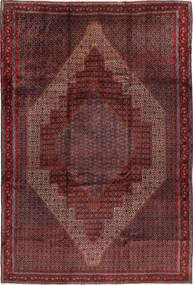 Senneh Matto 255X380 Itämainen Käsinsolmittu Tummanpunainen Isot (Villa, Persia/Iran)