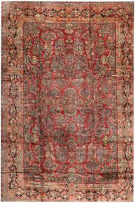 Sarough Matto 368X543 Itämainen Käsinsolmittu Tummanpunainen/Tummanruskea Isot (Villa, Persia/Iran)