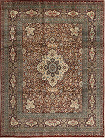 Tabriz Matto 279X371 Itämainen Käsinsolmittu Tummanpunainen/Vaaleanruskea Isot (Villa, Persia/Iran)