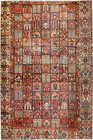 Bakhtiar Matto 374X570 Itämainen Käsinsolmittu Tummanruskea/Tummanpunainen Isot (Villa, Persia/Iran)