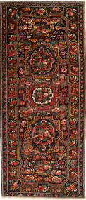 Bakhtiar Matto 160X395 Itämainen Käsinsolmittu Käytävämatto Tummanruskea/Tummanpunainen (Villa, Persia/Iran)