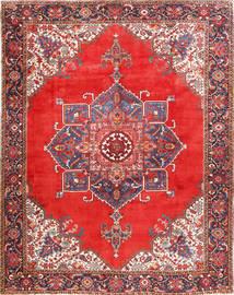 Heriz Matto 300X385 Itämainen Käsinsolmittu Ruoste/Tummanpunainen Isot (Villa, Persia/Iran)