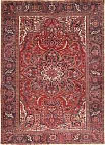 Heriz Matto 246X340 Itämainen Käsinsolmittu Tummanpunainen/Tummanruskea (Villa, Persia/Iran)