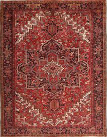 Heriz Matto 293X380 Itämainen Käsinsolmittu Tummanpunainen/Tummanruskea Isot (Villa, Persia/Iran)