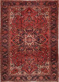 Heriz Matto 262X358 Itämainen Käsinsolmittu Tummanpunainen/Tummanruskea Isot (Villa, Persia/Iran)