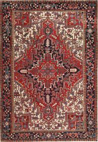 Heriz Matto 223X323 Itämainen Käsinsolmittu Tummanpunainen/Musta (Villa, Persia/Iran)