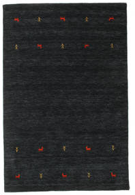 Gabbeh Loom Two Lines - Musta/Harmaa Matto 160X230 Moderni Musta (Villa, Intia)