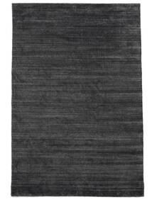 Bamboo Silkki Loom - Charcoal Matto 200X300 Moderni Musta/Violetti/Tummanharmaa ( Intia)