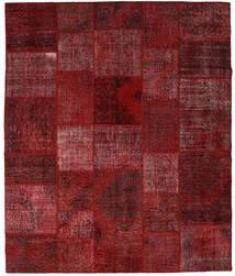 Patchwork Matto 250X296 Moderni Käsinsolmittu Tummanpunainen Isot (Villa, Turkki)